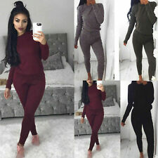 New Ladies Women's Sweatshirt Joggers Plain Lounge Wear Tracksuit Size UK 8-26