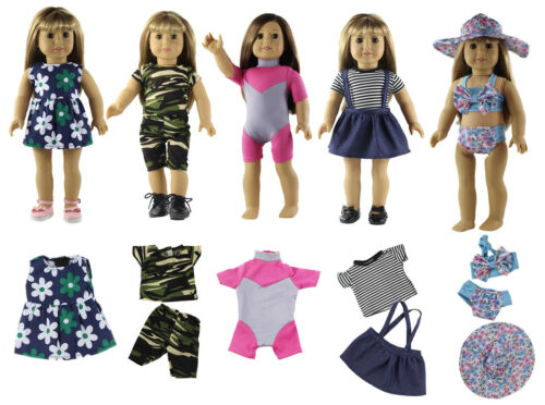 5 Set New Style Doll Clothes FOR 18/'/' inch American Girl Handmade Dress Outfit