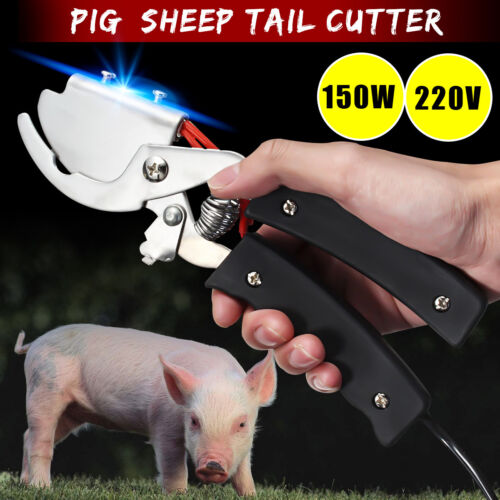 1Pc Electric LiveStock Tail Cutting Tool For Dog Pig Puppy Sheep Tail Cutter @