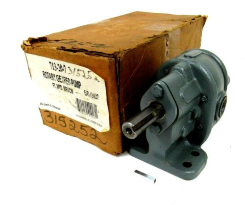 NEW BROWN & SHARP 713207 ROTARY GEARED PUMP 713207
