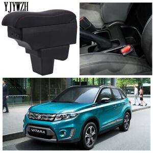 Armrest Box Consoles Storage with Cup Holder Ashtray For Picanto 2006-2019 USB Charging Double Layer