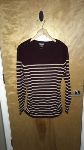 Dry Goods Maroon And Tan Long Sleeve