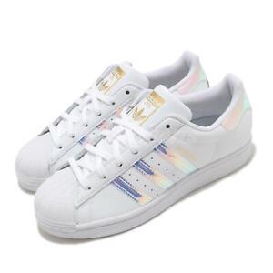 Sucio Acompañar Amoroso  adidas Originals Superstar W Iridescent White Gold Women Classic Shoes  FX7565   eBay