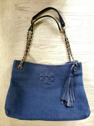 Tory Burch Thea Straw Shoulder Tote Bag, $380