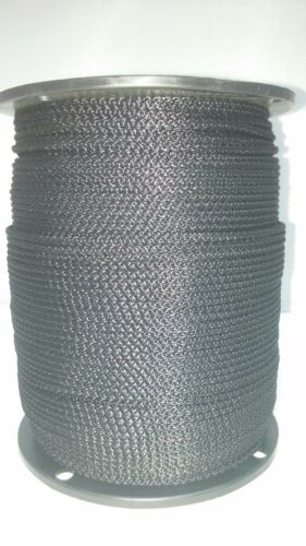 "3//32/"" x 1000ft  Black Utility Cord #3 Solid Braid Rope"