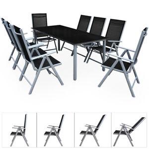 Alu Sitzgruppe 8+1 Aluminium Gartenmöbel Essgruppe Gartenset Tisch Stuhl Set