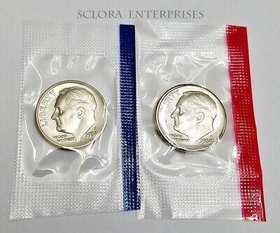 *MINT CELLO*  **FREE SHIP** 1981 P /& D Roosevelt Dime Set 2 Coins