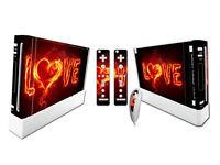 Nintendo Wii Skin Design Foils Aufkleber Schutzfolie Set - Love Motiv