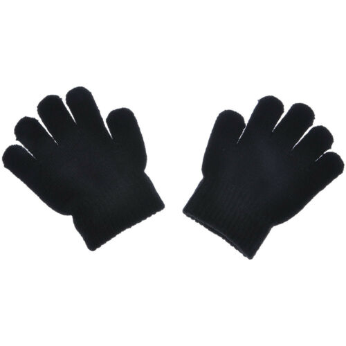 Baby Kid Infant Winter Warm Full Finger Mittens Soft Solid Magic Knitting Gloves