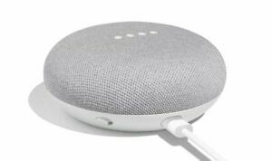 NEW Google Home Mini - Smart Small Speaker - (Voice Assistant) -Chalk Gray