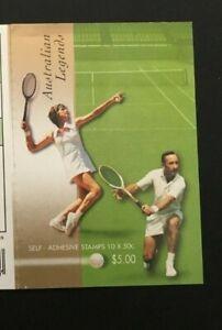 Australian-Stamps-2003-Australian-Legends-Booklet-Margaret-Court-amp-Rod-Laver
