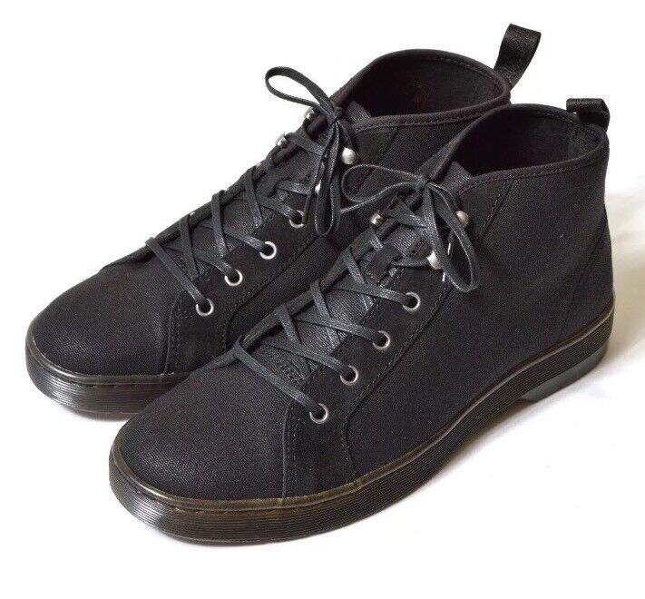 Dr Martens Coburg botas Chukka Negro Lona Zapatillas para hombre Arandelas Zapato Alto