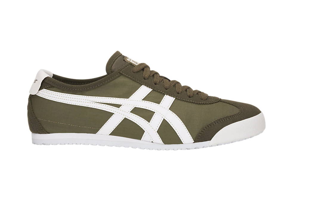 ONITSUKA TIGER 1183A223.300 Mexico 66 Mn´s (M) Olive Weiß Leather Casual schuhe