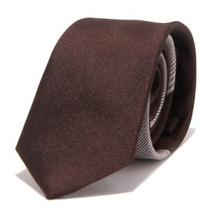 8876w Cravatta Uomo No Brand Brown Tie Men Plus De Rabais Sur Les Surprises