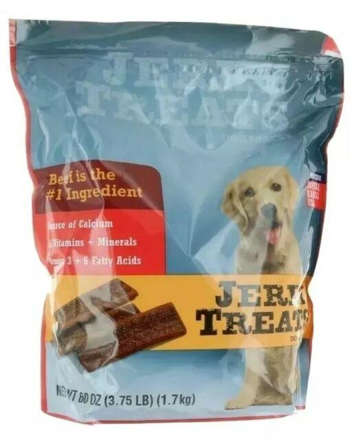 Jerky Treats Tender Beef Strips Dog Snacks 60oz, Vitamins, Minerals & Omega 3