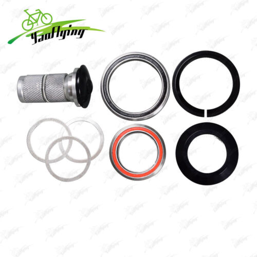 """1-1//8/"""" to 1-1//2/"""" Bicycle Headset Expander w// Carbon Top Cap for Road /& MTB Bike"""