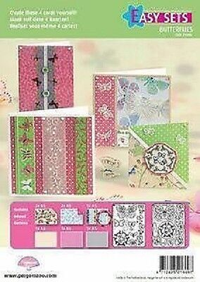 PERGAMANO Parchment Easy Sets Card Kit - Butterfly Kisses 2, Cards 71006
