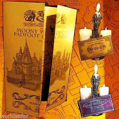 Harry Potter Gold Shimmer Paper Marauder's Marauders Map Replica Hogwarts