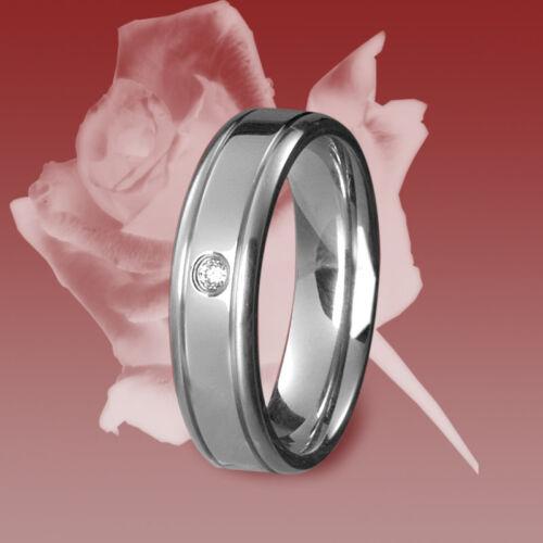 Verlobungsring Ehering Freundschaftsring Zirkonia 1 Edelstahl Ring Trauring
