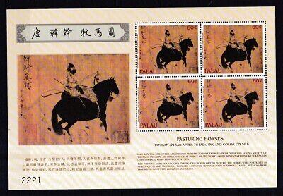 Palau-inseln 2001 Postfrisch Kleinbogen Minr. 1931 Chinesisches Jahr Der Pferdes PüNktliches Timing