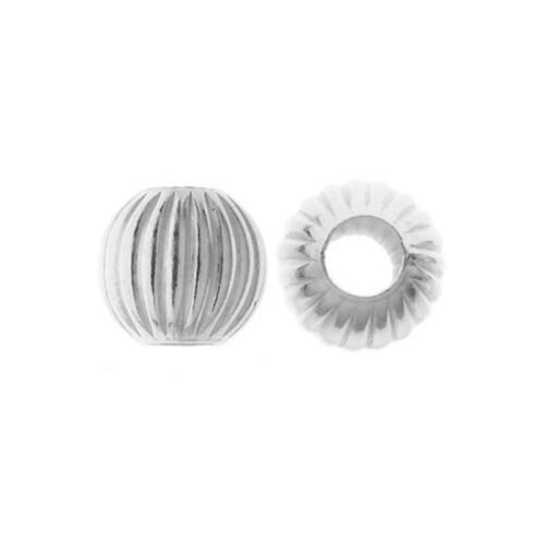 925 Sterling Silver Corrugated Beads Round sparkling Bead size 3mm choose pack