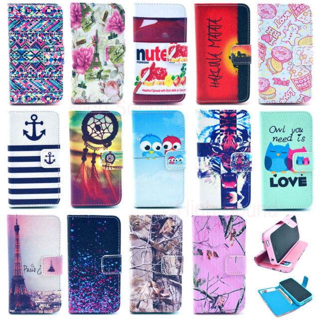 New Wallet Card Holder Flip Leather Case Silicone Stand Cover Case Cell Phone