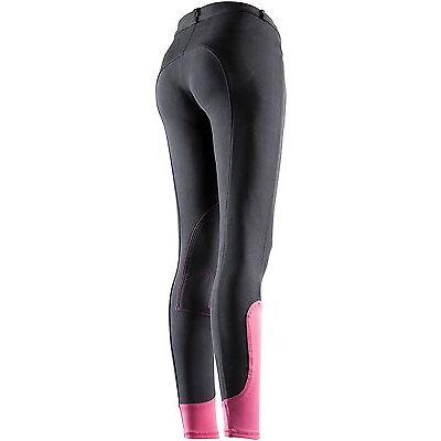 Equi-Theme Pro Fun Line Ladies Womens Breeches Stretch Material Two Tone Colour