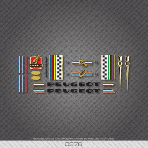 Transfers 0376 Peugeot Bicycle Frame Stickers Decals