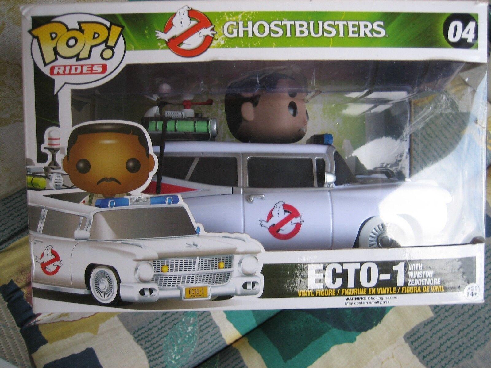 Funko POP  Rides Ghostbusters ECTO 1 mit Winston Zeddemore - NEU + OVP