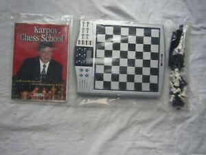 Intelligent Karpov Millénaire Electronic Chess School Neuf/scellé-afficher Le Titre D'origine TrèS Poli