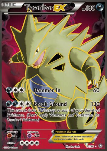 NMDespotar EX EN Pokemon Karte Holo Tyranitar EX 91//98 Full Art