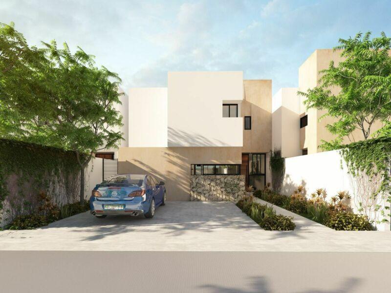 Casa en venta de 3 habitaciones en Dzitya privada Almena, mod. Azalea