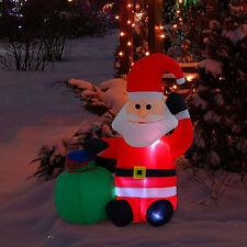 LED Weihnachtsmann Schneeman Weihnachtsdeko Weihnachtsfigur Santa Nikolaus Deko