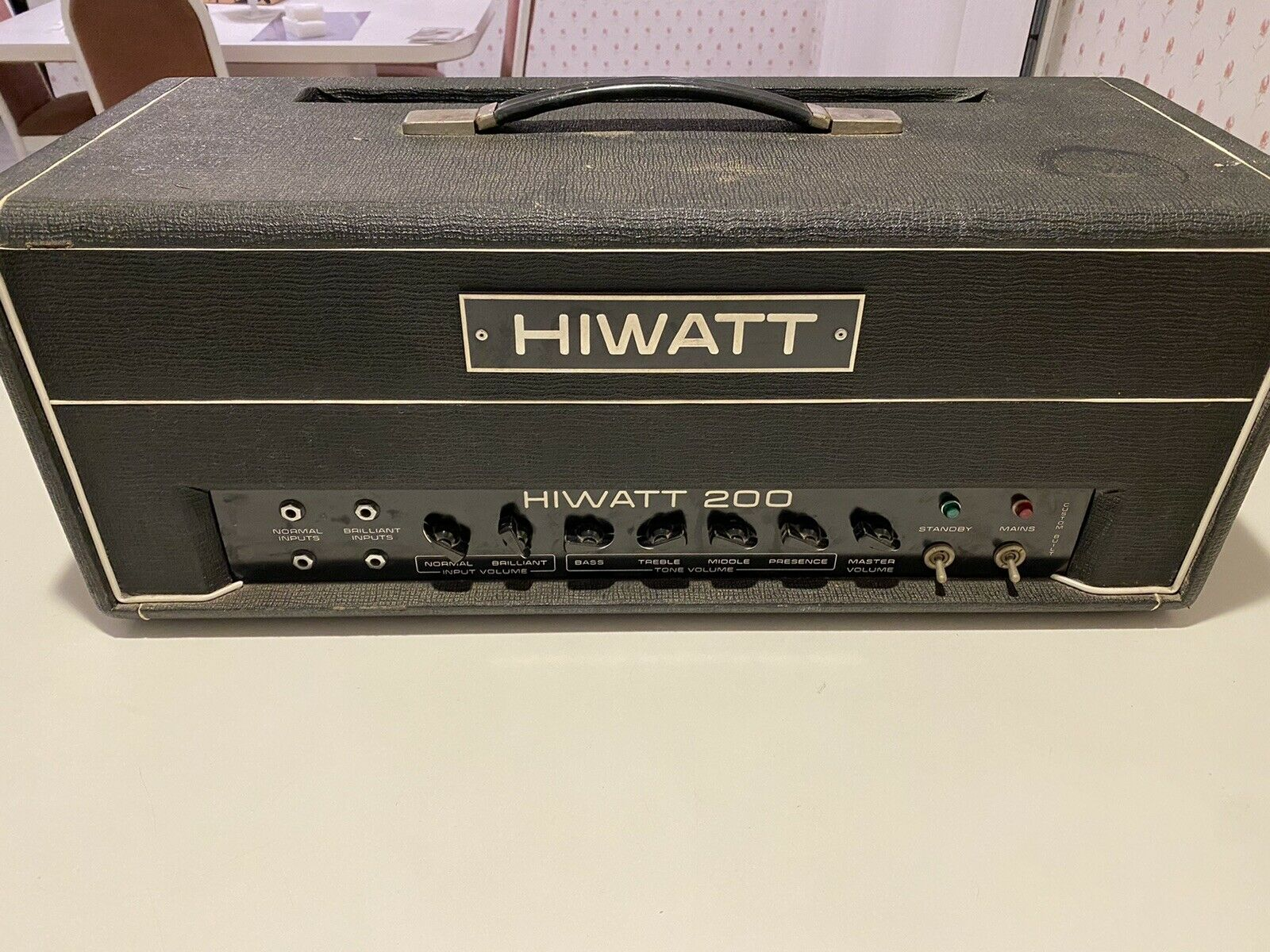 Hiwatt 1970's 200 Watt Amp With Vintage Tubes. All Original! Killer Amp!!. Buy it now for 2000.00