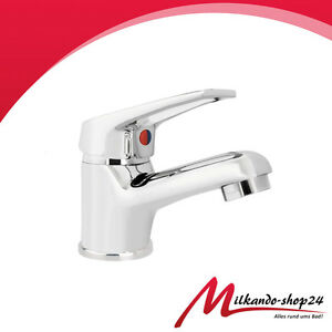 Waschbecken-Einhebel-Armatur-Verchromt-Wasserhahn-Mischbatterie-Waschbecken