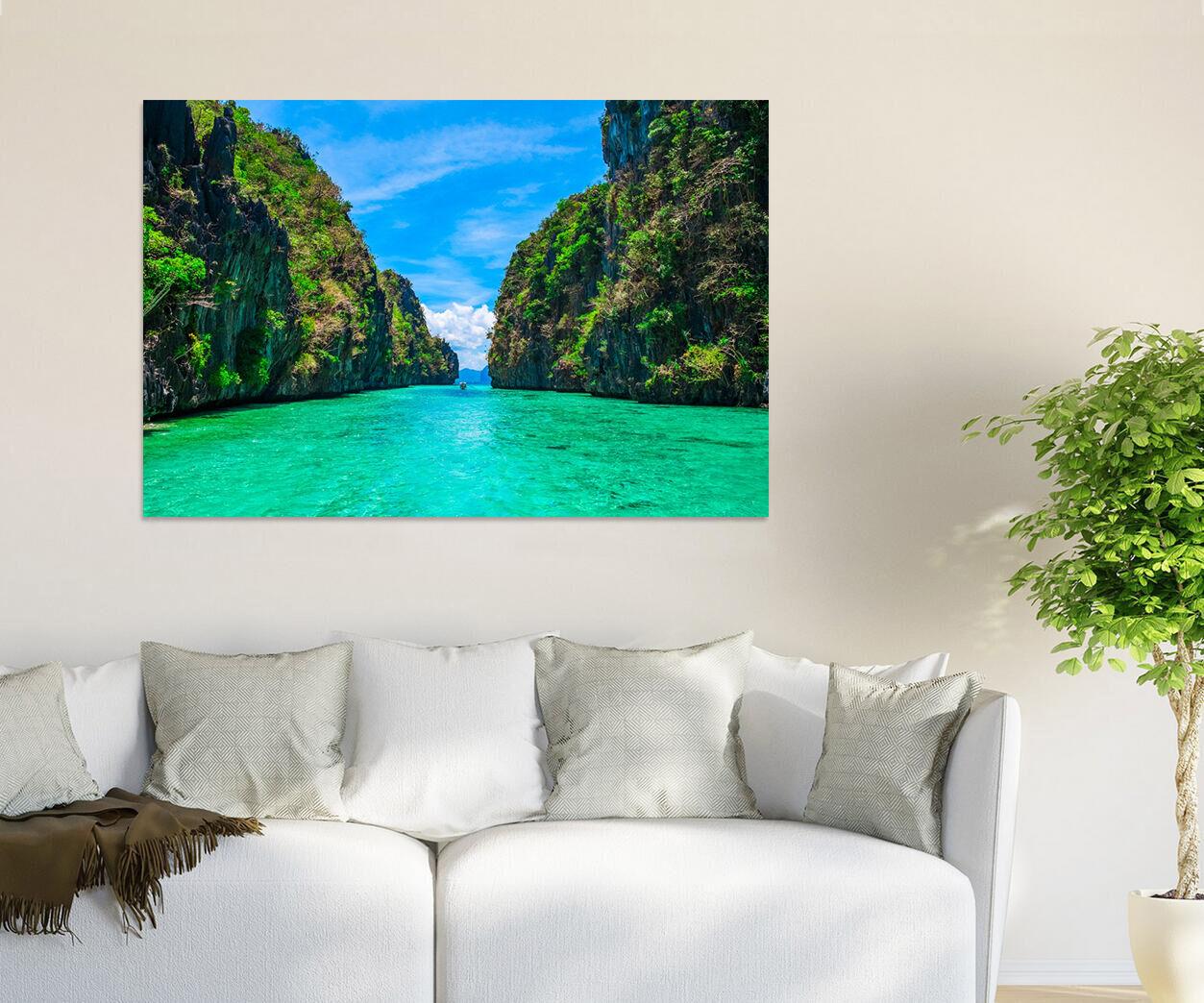 3D Aoyama greene Wasser Himmel 8 Fototapeten Wandbild BildTapete AJSTORE DE Lemon