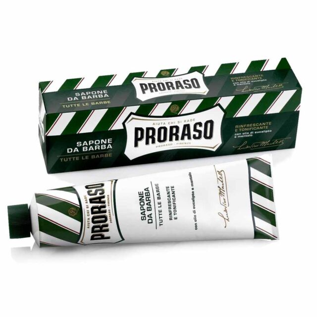 PRORASO - Rasierseife Tube - Eukalyptusöl und Menthol 150ml