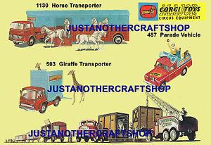 Corgi-Toys-Chipperfields-Circus-487-503-1130-Cartel-Folleto-Tienda-Pantalla-cartel-AD