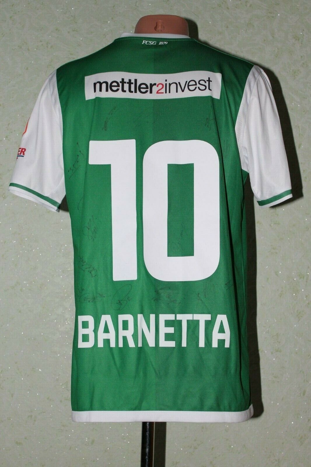 FC St. Gallen Football Shirt Soccer 2017 2018 Home Match Worn BARNETTA SWISS