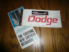 1966 Dodge Coronet Operating Instructions Guide - Vintage - Glove Box