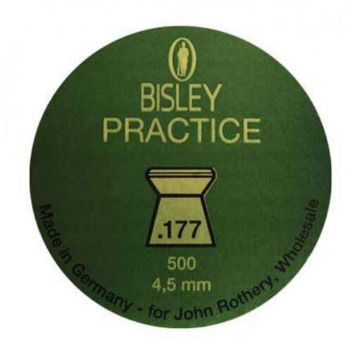 4.5mm calibre nouveau 500 bisley pratique tête plate .177 pellets fusil à air comprimé