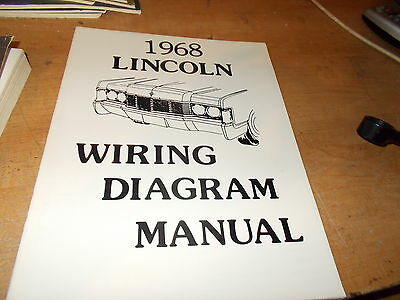 1968 Lincoln Wiring Diagram Manual | eBay