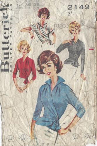 """1950s Vintage Näh Muster Brustumfang B36 /"""" /"""" Rundum BLUSE R703"""