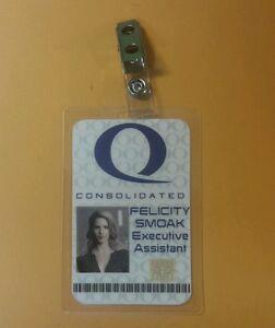 Queen Consolidated Felicity Smoak IT Tech cosplay prop costume Arrow ID Badge