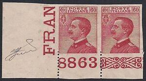 REGNO-1918-60-c-n-111-MICHETTI-VARIETA-039-NUMERO-DI-TAVOLA-8863