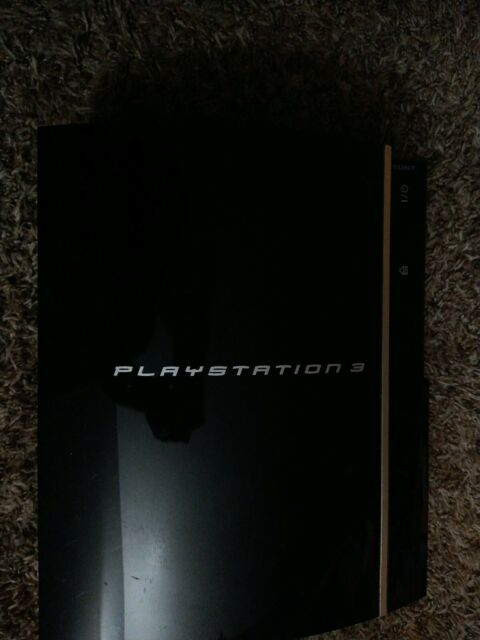 Sony PS3 PlayStation 3 Fat Black Console ONLY Parts Only