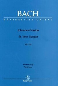 Bach St John Passion Bwv245 Vocal Score ger/eng To Enjoy High Reputation In The International Market