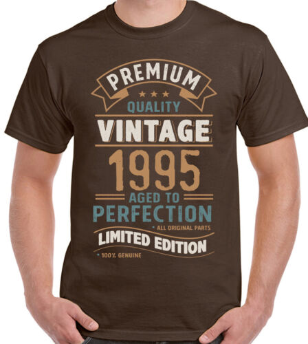 Vintage Year 1995 Limited Edition 24th Birthday Mens Funny T-Shirt 24 Year Old