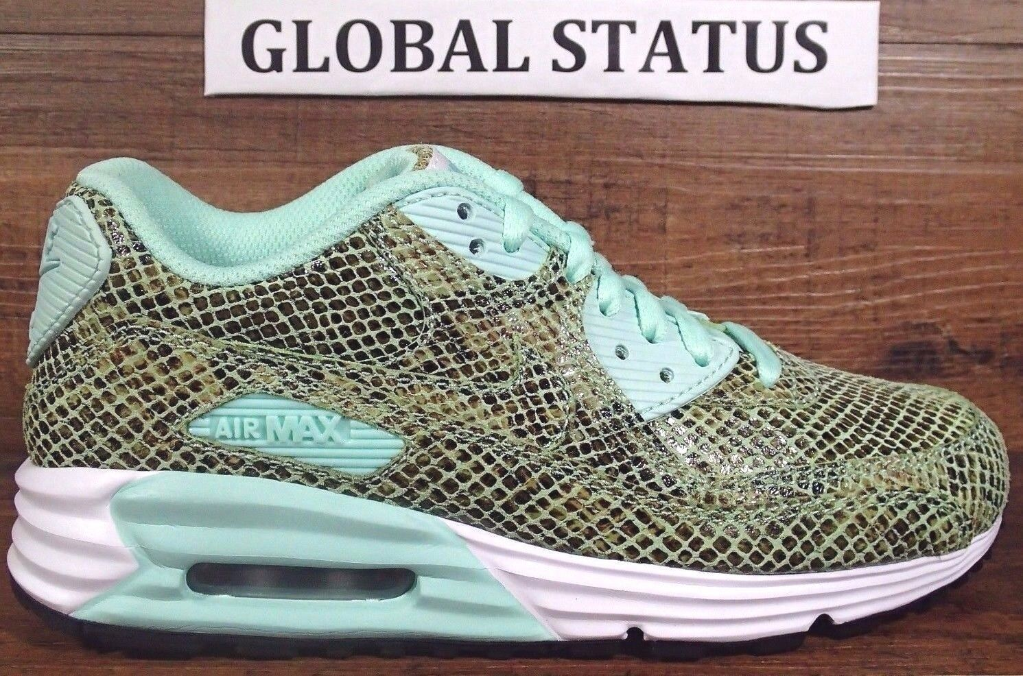 WOMENS NIKE ID AIR MAX LUNAR 90 SNAKESKIN CUSTOM RUNNING SHOES Price reduction