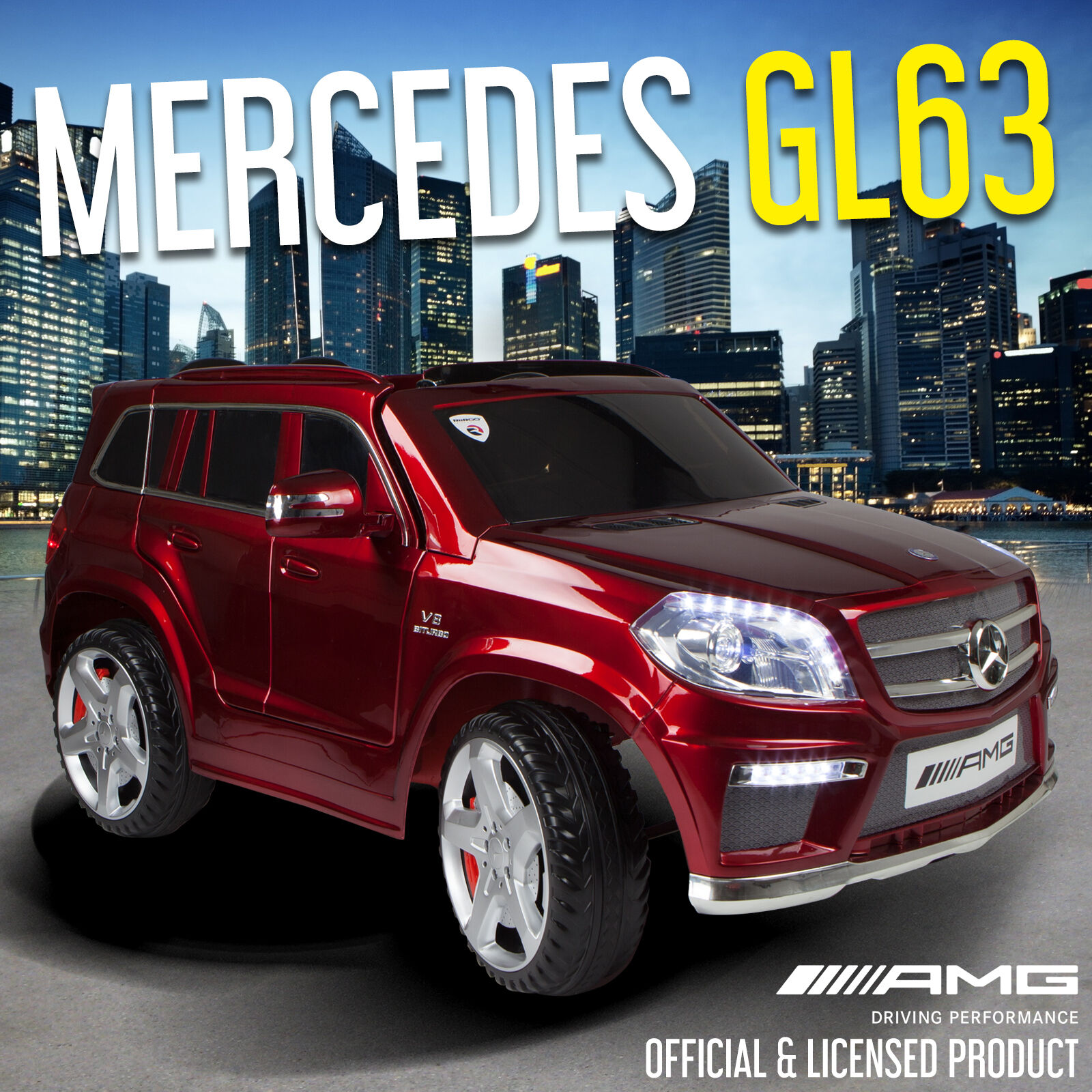 Mercedes Benz GL63 AMG Licensed 12V Kids Ride On Car Battery Remote Control Cars